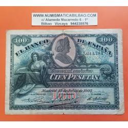 ESPAÑA 100 PESETAS 1907 LA GIRALDA Sin Serie 3044784 Pick 64A BILLETE MBC- @RARO@ Spain banknote