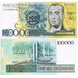 . BRASIL 200 CRUCEIROS 1990 Pick 229 SC Brazil Cruzeiros