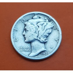 USA 10 CENTS DIME 1942 D MERCURY SILVER UNC-