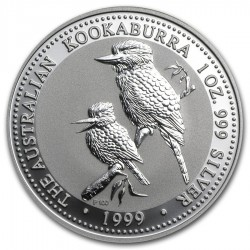 AUSTRALIA 1 DOLAR 1999 KOOKABURRA PLATA SC SILVER DOLLAR