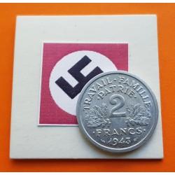 FRANCIA 2 FRANCOS 1943 BAZOR KM*904.1 III REICH NAZI WWII