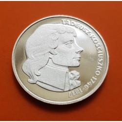 POLONIA 100 ZLOTY 1976 TADEUS KOSCIUSZKO KM.82 MONEDA DE PLATA PROOF Poland 100 Zlotych