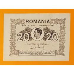 RUMANIA 20 LEI 1945 REY MIGUEL I 2ª GUERRA MUNDIAL Pick 76 BILLETE SC- @ARRUGA@ Romania UNC BANKNOTE WWI