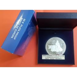 ..ESPAÑA 50 EUROS 2003 ANIVERSARIO EURO PLATA PROOF ESTUCHE