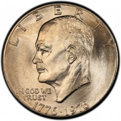 USA 1 DOLLAR 1976 P EISENHOWER NICKEL SC TYPE 1