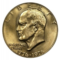 USA 1 DOLLAR 1976 D EISENHOWER NICKEL SC TYPE S