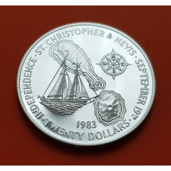 ..FAO 4 DOLARES 1970 ANTIGUA NICKEL SC $4 Dollars @RARA@