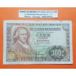 ESPAÑA 100 PESETAS 1948 FRANCISCO BAYEU Serie B 4507604 Pick 137 BILLETE MBC Spain banknote