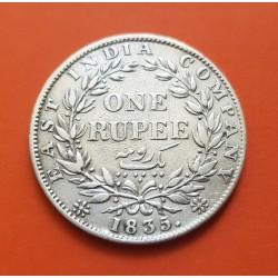INDIA BRITANICA 1/2 RUPIA 1913 JORGE V EBC- PLATA SILVER BRITISH