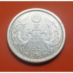 . JAPON 50 SEN 1925 Year 14 TAISHO PLATA SC- Silver Japan Coin