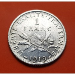 .FRANCIA 1 FRANCO 1915 SEMEUSE PLATA SC SILVER FRANCE