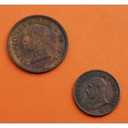 2 monedas x ESPAÑA Rey ALFONSO XIII 1 CENTIMO 1912 * 2 PCV + 2 CENTIMOS 1912 * 12 PCV COBRE EBC