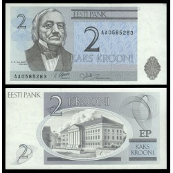 . ESTONIA 10 KROONI 1991 JACOB HURT Pick 72A SC ESTONIE
