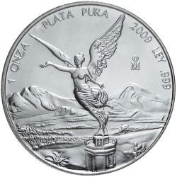 MEXICO 1 ONZA 2009 ANGEL PLATA PURA SC ONZA SILVER UNC