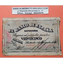 . SANTANDER 50 PESETAS 1936 BANCO SANTANDER 012238