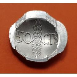 ESPAÑA 50 CENTIMOS 1966 * 19 74 FRANCO PROOF CARTERA FNMT