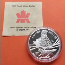 . 1 DOLAR 2003 COBALT CENTENNIAL PLATA SILVER SET DOLLAR