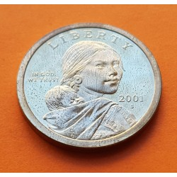 USA 1 DOLLAR INDIA SACAGAWEA 2001 S PROOF