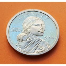 USA 1 DOLLAR INDIA SACAGAWEA 2004 S PROOF