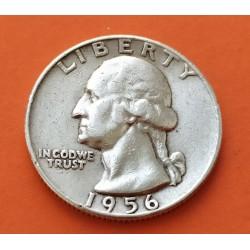 USA 1/4 DOLLAR 1956 D WASHINGTON XF SILVER US