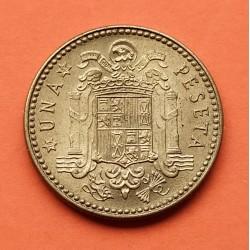 ESPAÑA 1 PESETA 1947 * 19 48 FRANCO SC- SPAIN Manchitas Brillo o