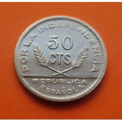 . SANTANDER PALENCIA y BURGOS 50 CENTIMOS 1937 LUJO ESPAÑA