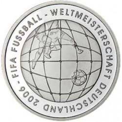 GERMANY 10 EUROS 2005 Sin Ceca SILVER UNC FIFA SOCCER