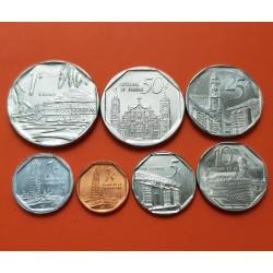 .CUBA 1+5+10+25+50 CENTAVOS 1 PESO INTUR 1994/2007 @RARA@