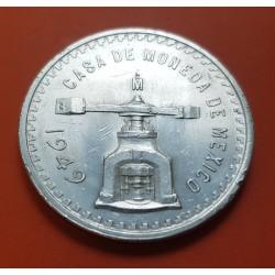 @RARA@ MEXICO 1 ONZA 1949 BALANZA KM.M49 MONEDA DE PLATA EBC muescas MEJICO Troy Ounce silver coin