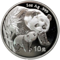 CHINA 10 YUAN 2004 OSO PANDA PLATA SC SILVER UNC