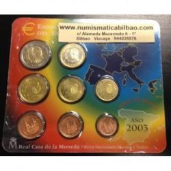 ESPAÑA CARTERA FNMT EUROS 2003 BU SET KMS EURO