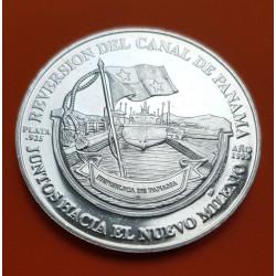 PANAMA 5 + 10 BALBOAS CANAL TREATY PLATA PROOF Silver Set