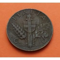 ITALIA 10 CENTESIMI 1939 Año XVII KM*74.A NAZI III REICH WWII