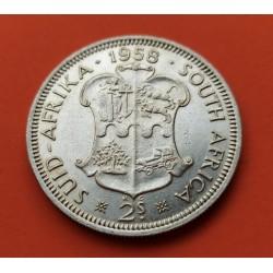 . SUDAFRICA 2 1/2 SHILLINGS 1953 PLATA EBC+ South Silver