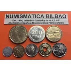 ESPAÑA 2001 CARTERA FNMT SERIE 1+5+10+25+50+100+200+500 PESETAS