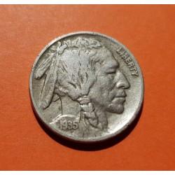 ESTADOS UNIDOS 5 CENTAVOS 1936 D BUFFALO INDIO NICKEL EBC- USA