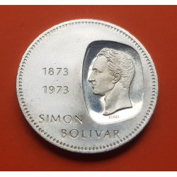 VENEZUELA 10 BOLIVARES 1973 SIMON BOLIVAR PLATA SC SILVER