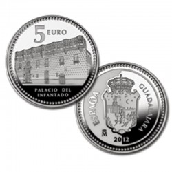 ESPAÑA 5 EUROS 2011 PLATA 32 CIUDAD de LEON
