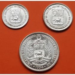 VENEZUELA 1 BOLIVAR 1954 SIMON BOLIVAR PLATA SC SILVER KM.37