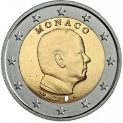 MONACO 2 EUROS 2018 REY ALBERTO II SIN CIRCULAR MONEDA NO CONMEMORATIVA @ESCASA@