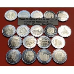. MALTA 2€ EUROS 2011+2012+2013+2014 SC Lote 5 monedas