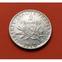 .FRANCIA 2 FRANCOS 1917 SEMEUSE PLATA SC SILVER FRANCE