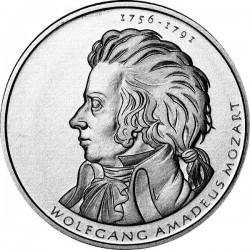 ALEMANIA 10 EUROS 2006 Ceca D PLATA WOLFGANG AMADEUS MOZART SC