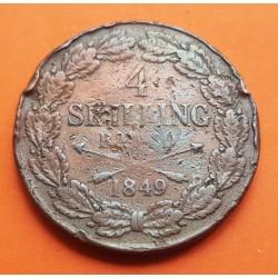 DINAMARCA 1 RIGSMONTSKILLING 1856 FREDERICK VII KM*135 BRONCE MB