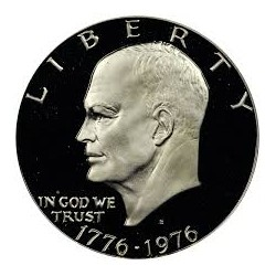 USA 1 DOLLAR 1976 S EISENHOWER NICKEL PROOF TYPE 1