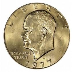 USA 1 DOLLAR 1977 D EISENHOWER NICKEL UNC