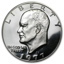 USA 1 DOLLAR 1977 S EISENHOWER NICKEL PROOF