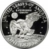 ESTADOS UNIDOS 1 DOLAR 1978 S EISENHOWER y AGUILA SOBRE LA LUNA KM.203 MONEDA DE NICKEL @PROOF@ USA $1 Dollar coin