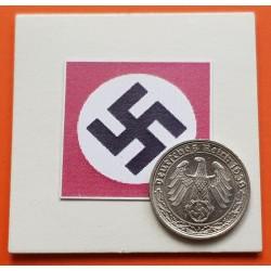 ALEMANIA 50 REICHSPFENNIG 1938 A AGUILA ESVASTICA NAZI NICKEL SC