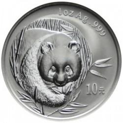 CHINA 10 YUAN 2002 OSO PANDA PLATA SC SILVER UNC Silber 1 Oz